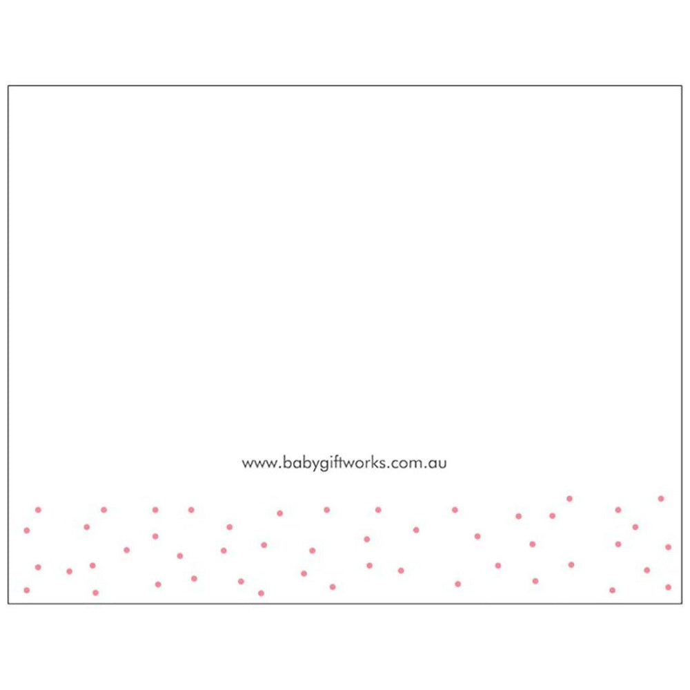 Congratulations | Medium Folded Gift Card | Recycled Matte Paper | Pink Gift Card Baby Gift Works