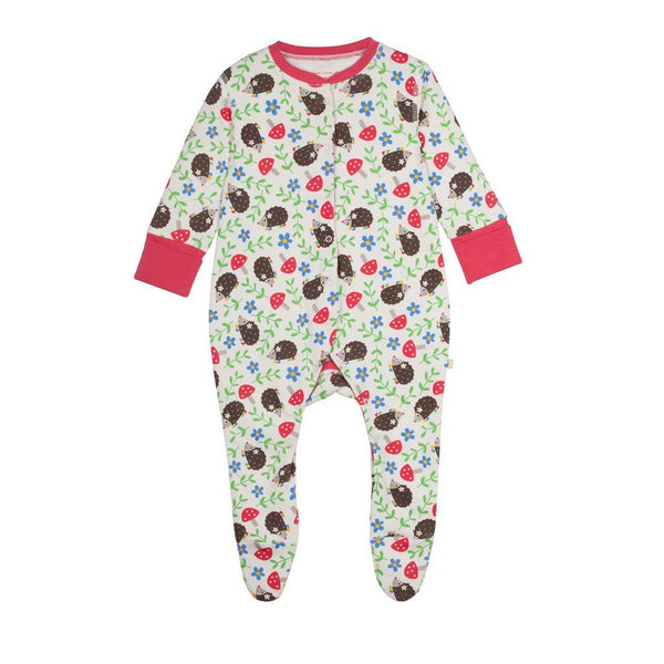 Frugi - Organic Cotton - Babygrow - Hedgehog in Wellies Grow suit Frugi