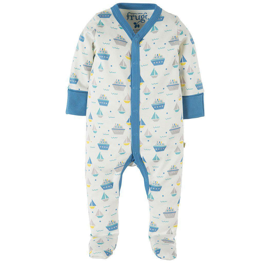 Frugi | Organic Cotton | Darling Babygrow | Summer Seas Growsuit Frugi