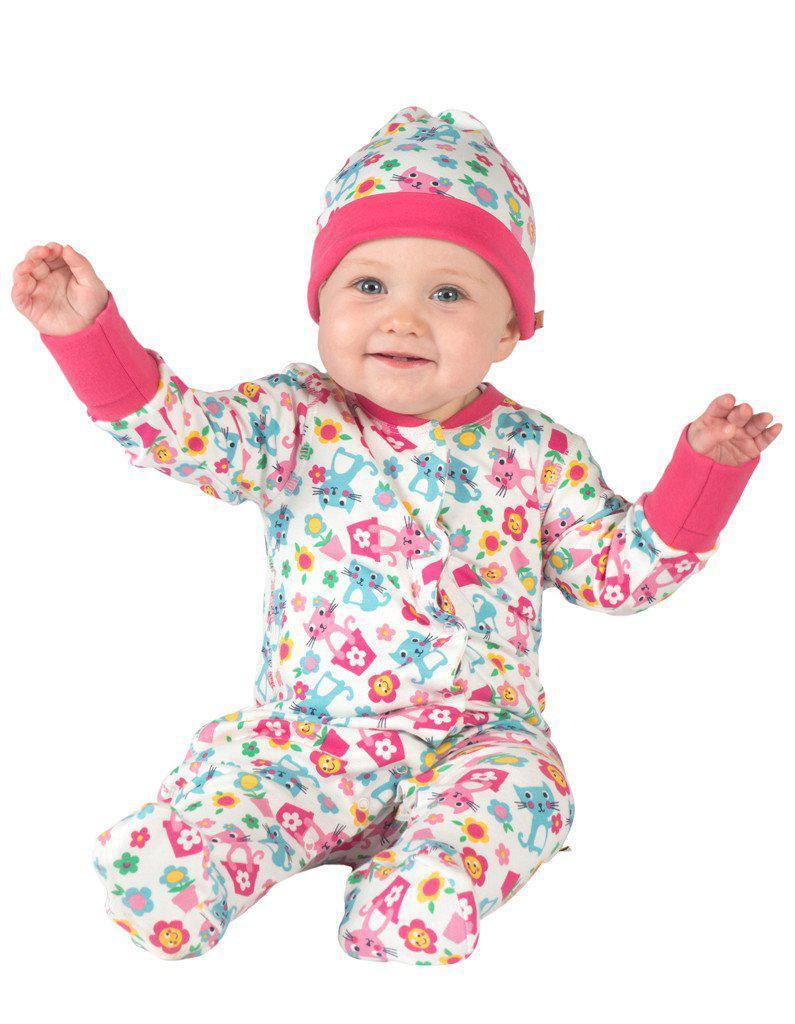 Frugi - Organic Cotton - Lovely Knotted Hat - Cat friends - Baby Gift Works Hat Frugi
