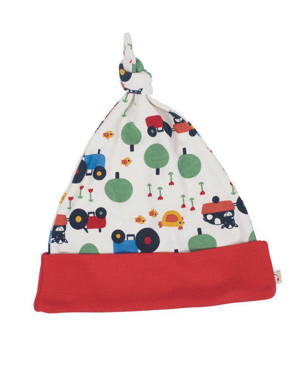 Frugi - Organic Cotton - Lovely Knotted Hat - Farmyard Friends Hat Frugi