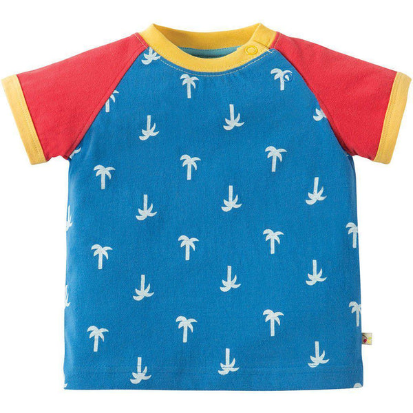 Frugi | Organic Cotton | Raglan Top | Renny | Palm Springs T-shirt Baby Gift Works