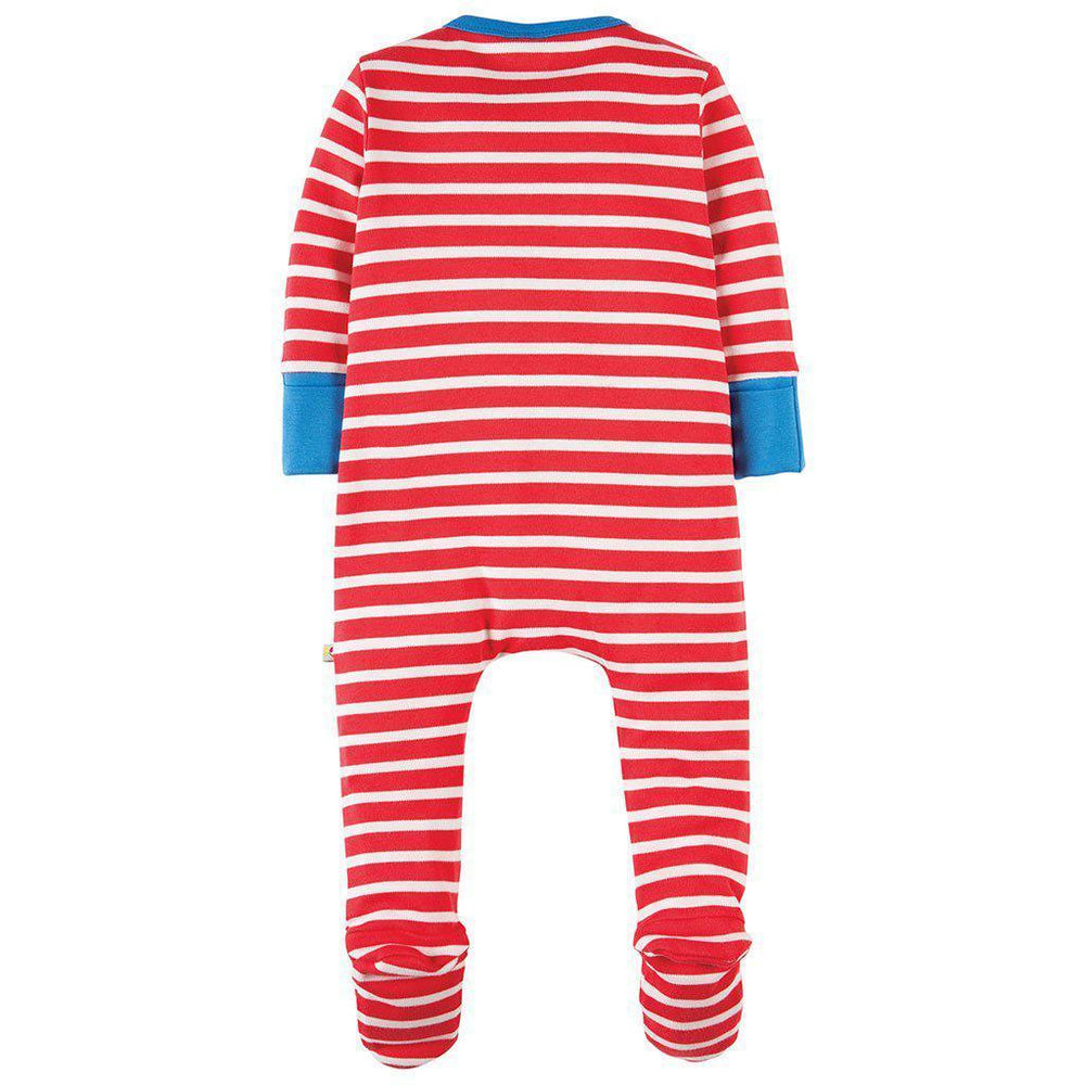 Frugi | Organic Cotton | Zippy Babygrow | Sheep Growsuit Frugi