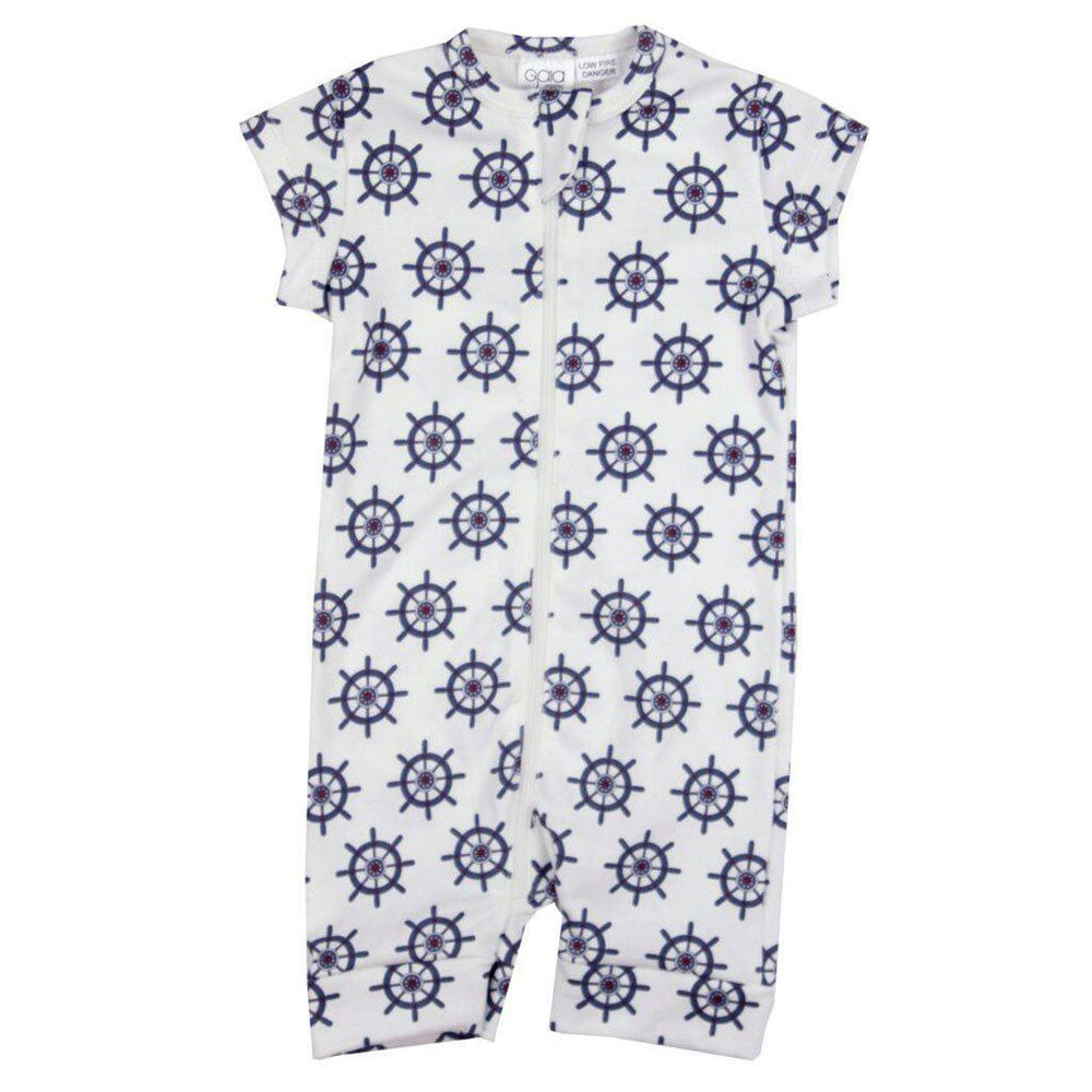 Gaia Organic Cotton - Onesie - Captains Wheel (sizes NB - 6 months) Romper Gaia Organic Cotton