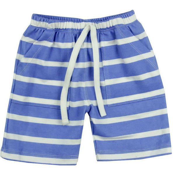 Gaia Organic Cotton - Shorts - Blue and White Stripe - 3-6 months Shorts Gaia Organic Cotton