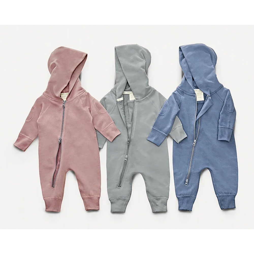 Sapling Winter Zip Romper trio