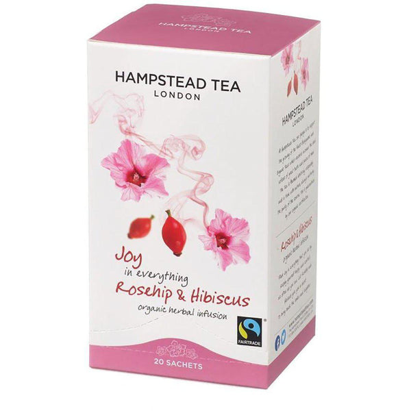 Joy in Everything | Organic Herbal Infusion | Rosehip & Hibiscus | 20 Sachets Tea Hampstead Tea