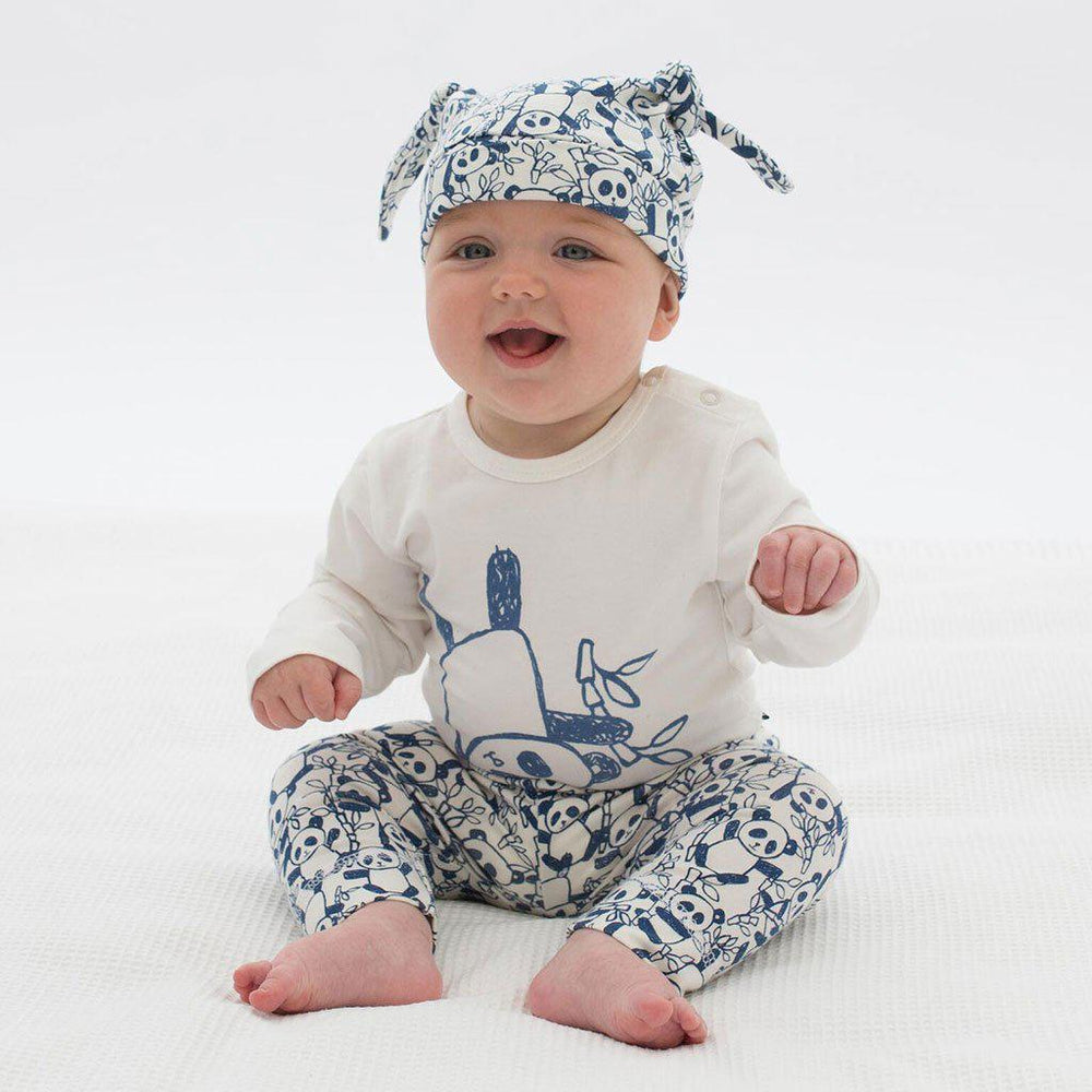 Kite | Organic Cotton | Baby Leggings | Navy Panda Leggings Kite