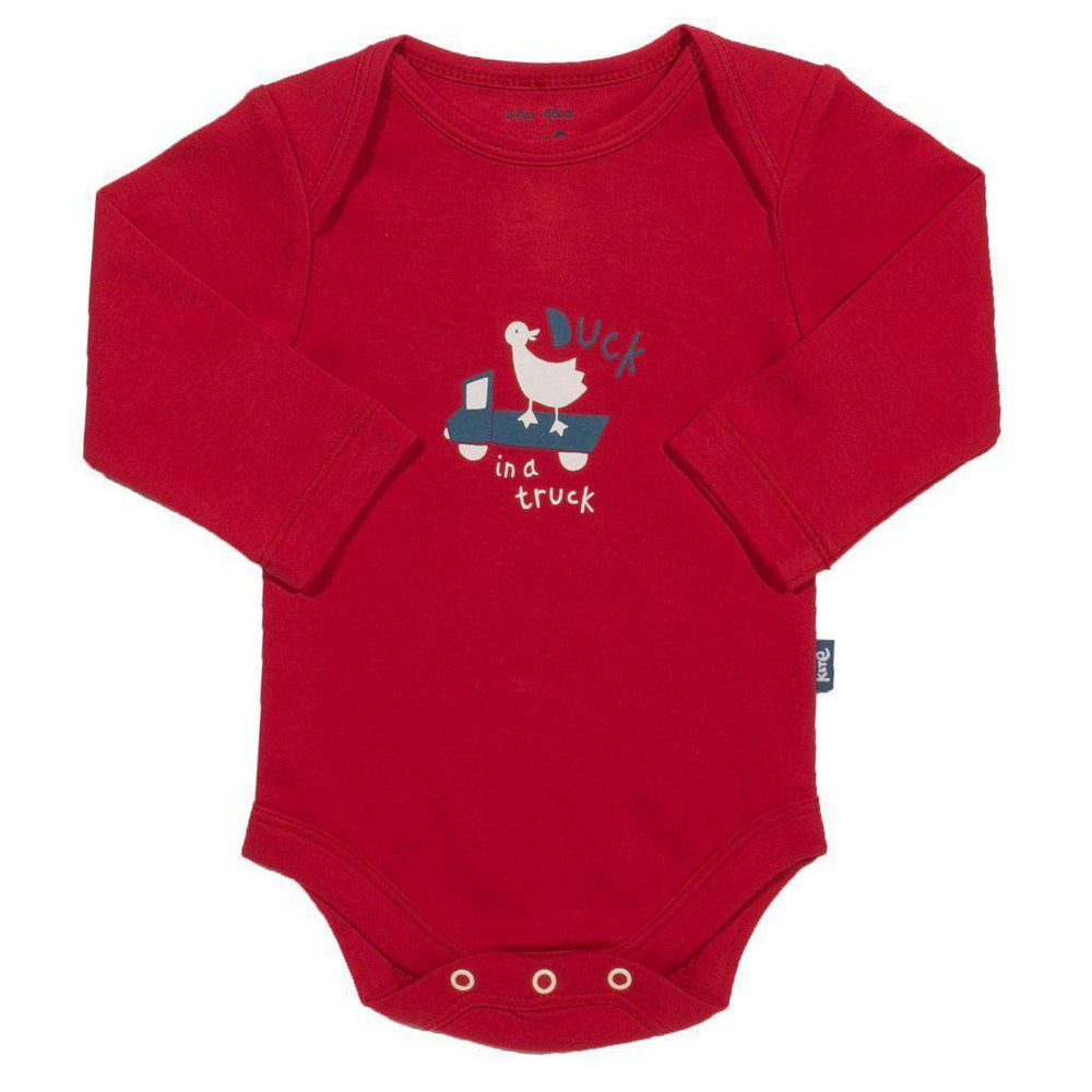 Kite | Organic Cotton | Body | Animal | 2 Pack | Red & Ochre | Newborn Bodysuit Kite