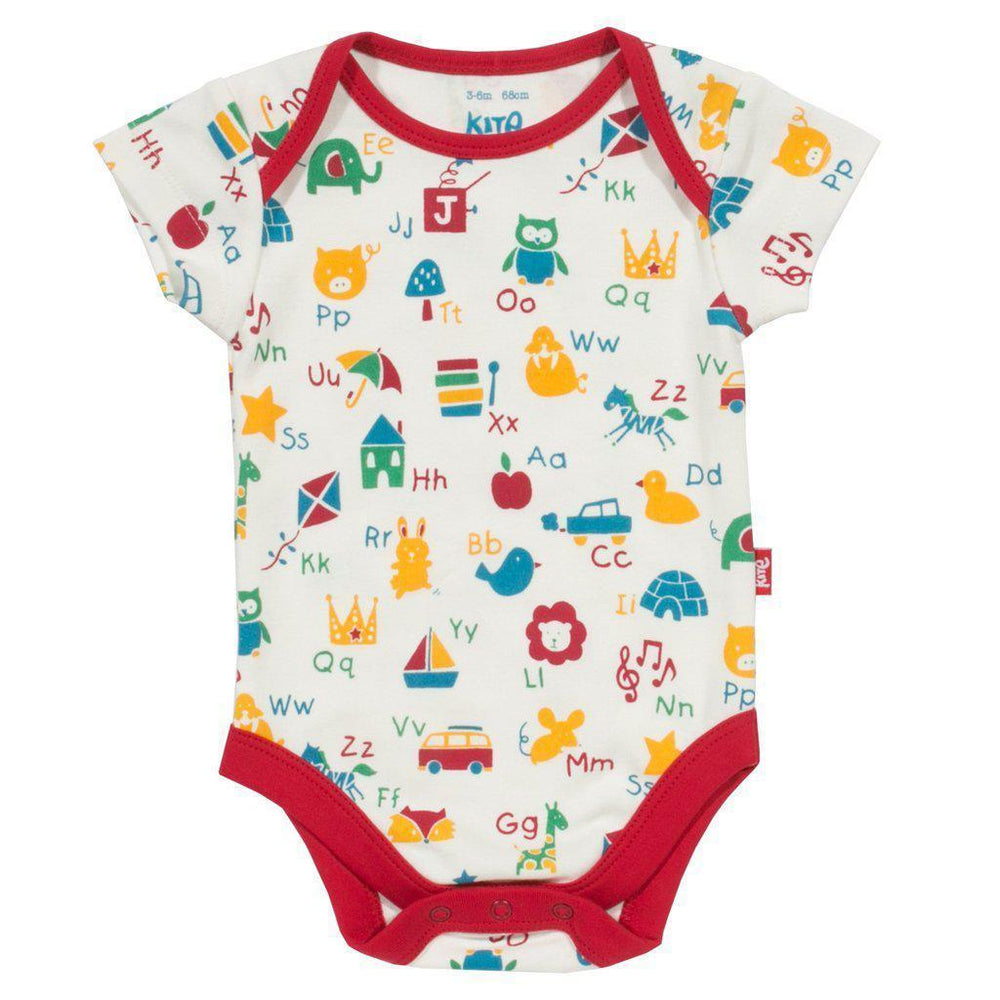 Kite | Organic Cotton | Bodysuit | ABC | Red Bodysuit Kite