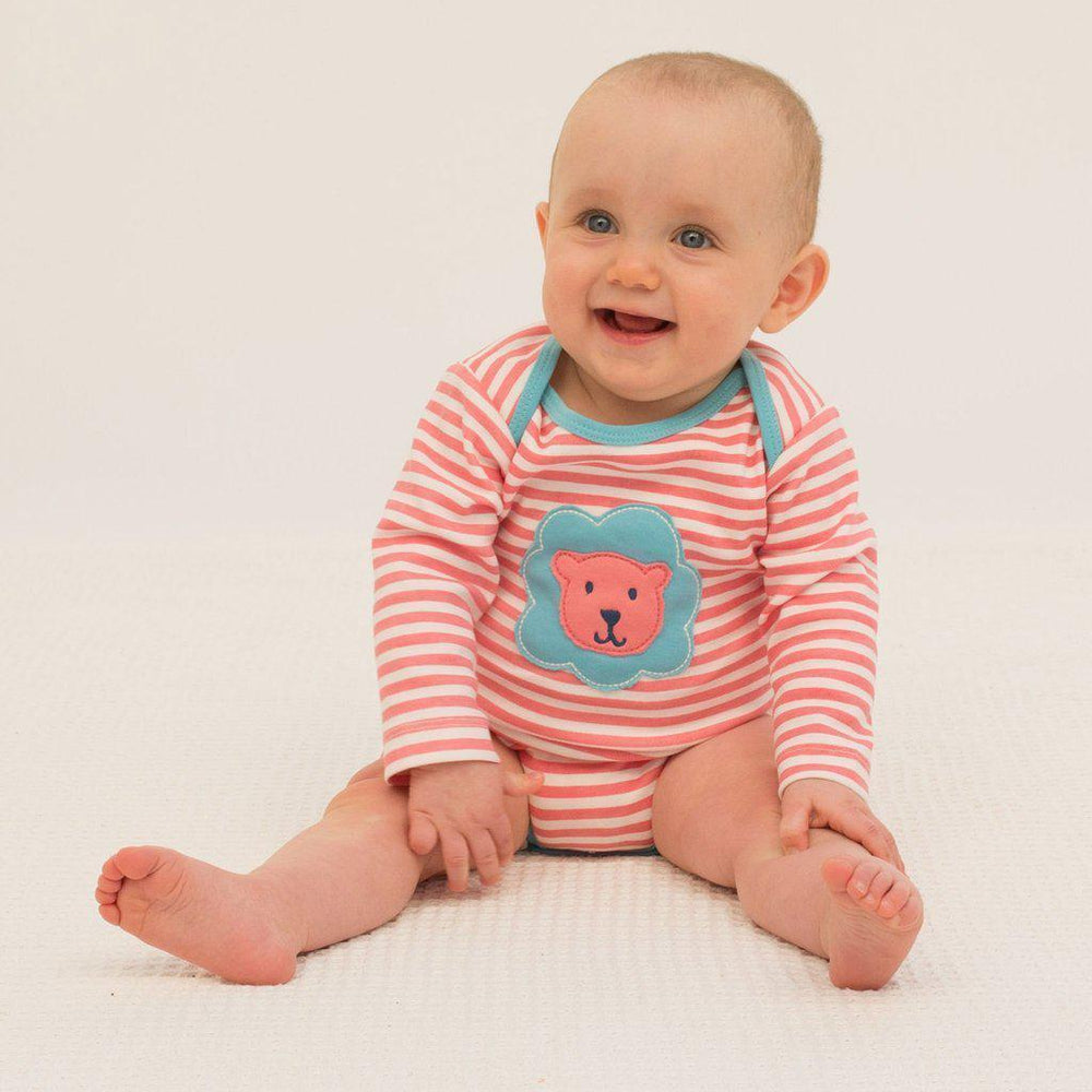 Kite | Organic Cotton | Bodysuit | Lion | Peony Bodysuit Kite