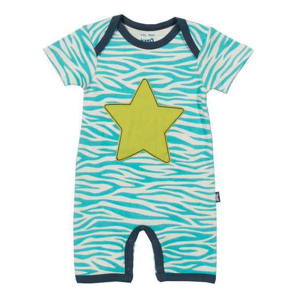 Kite | Organic Cotton | Short Leg Romper | Unisex | Star Romper Kite