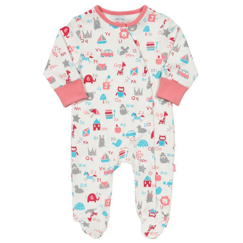 Kite | Organic Cotton | Sleepsuit | ABC | Peony Growsuit Kite