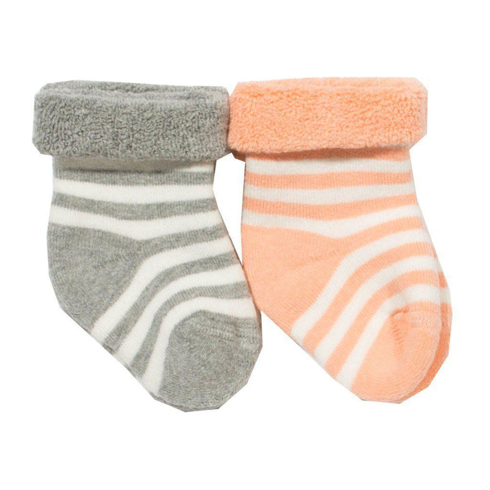 Kite | Organic Cotton | Socks | 2 Pack | Grey & Tangerine Socks Kite