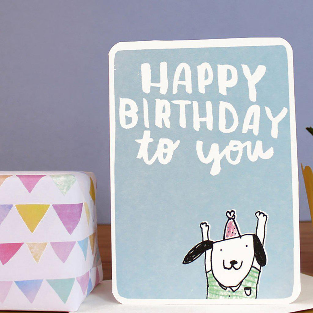 Laura Skilbeck | Eco-friendly | Hand-Made | Greeting Card | Happy Birthday Dog Card Laura Skilbeck