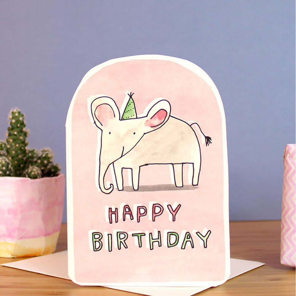 Laura Skilbeck | Eco-friendly | Hand-made | Greeting Card | Happy Birthday Elephant Card Laura Skilbeck