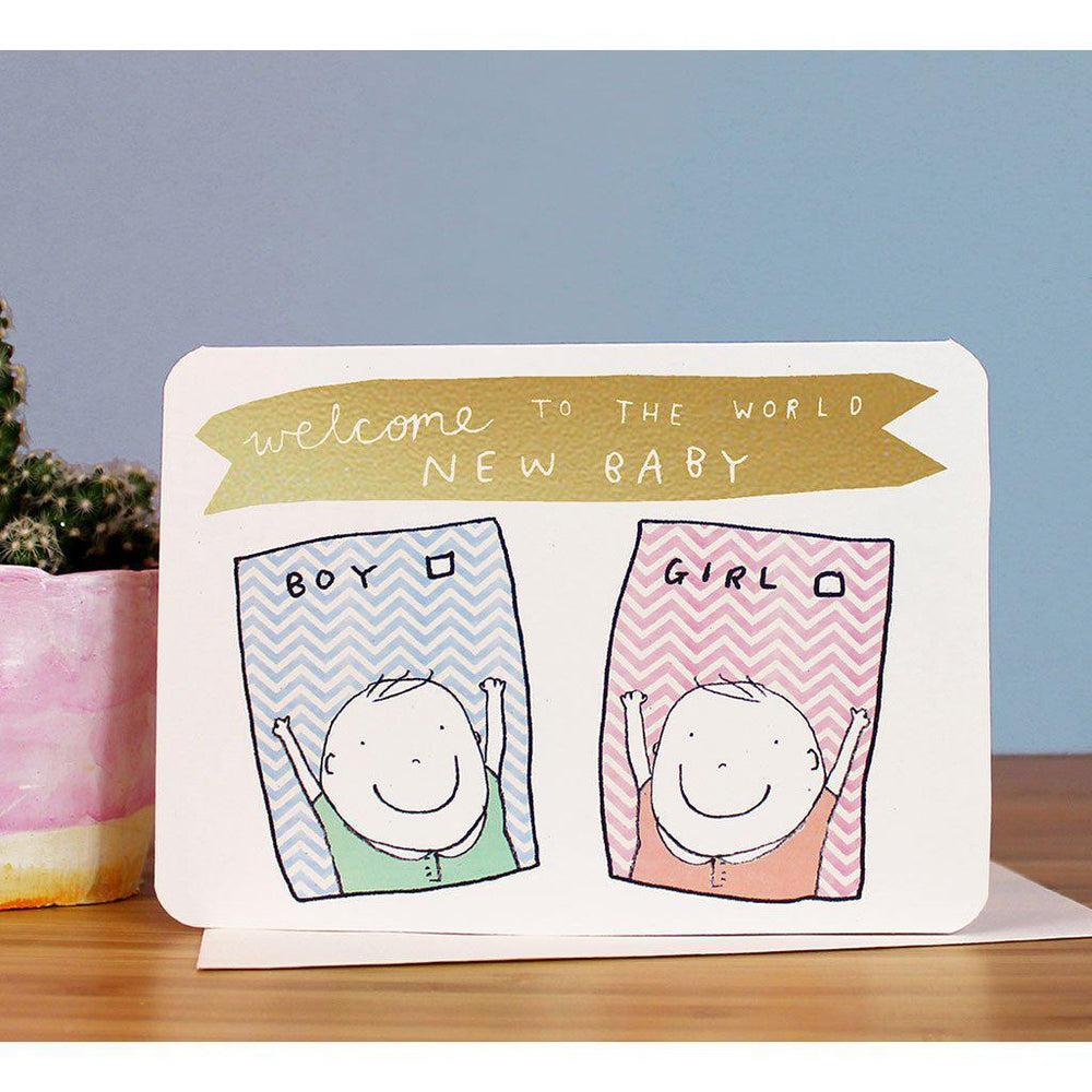 Laura Skilbeck | Eco-friendly | Hand-made | Greeting Card | New Baby Tickbox Card Laura Skilbeck