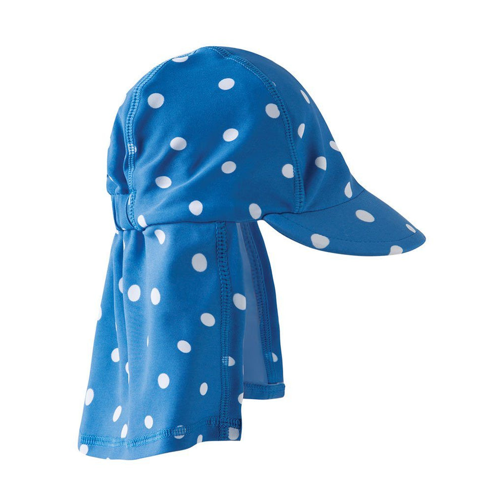 Little Swim Legionnaires Hat | Oeko Tex Approved Fabric | Sail Blue Polka Dot Hat Frugi