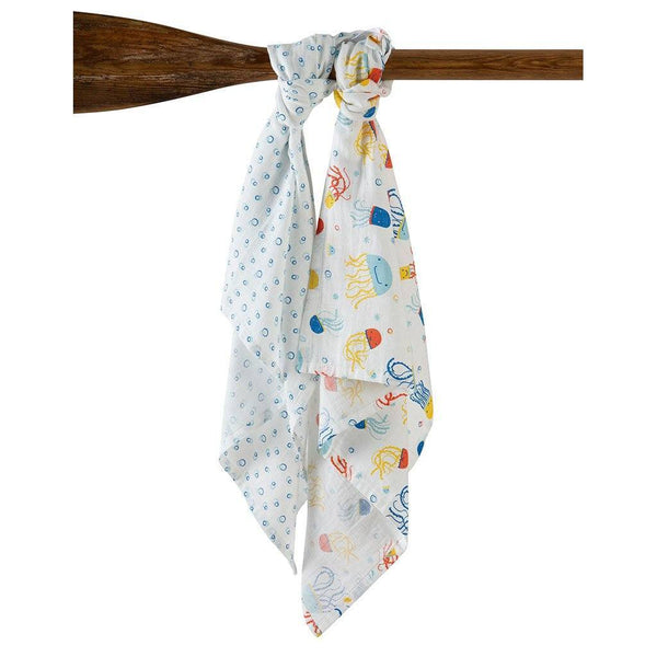 Lovely 2 Pack | Baby Muslins | Organic Cotton | Jazzy Jellies/Bubbles Muslin Frugi
