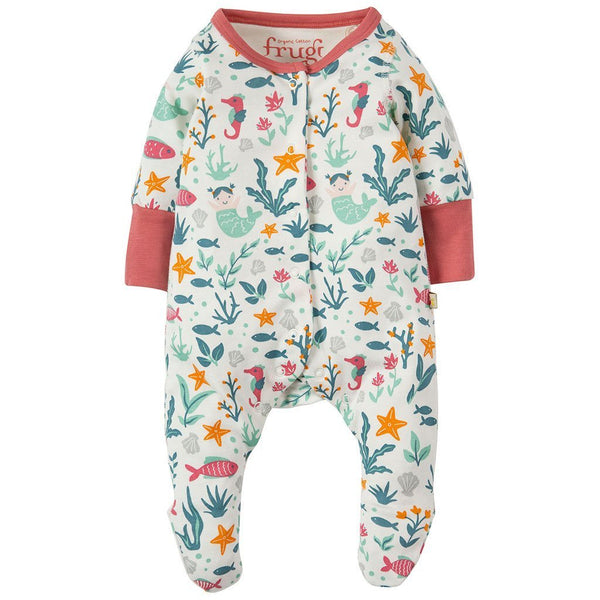 Lovely Little Babygrow | Organic Cotton | Rockpool Mermaids Growsuit Frugi