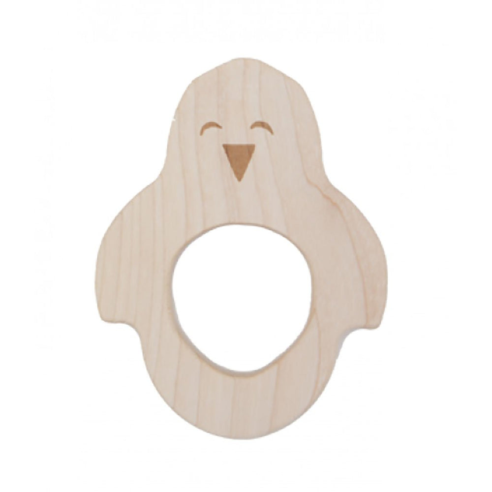Maple Wood | FSC Certified | Baby Soother | Boxed | Penguin | From Birth Teethers Wooden Story