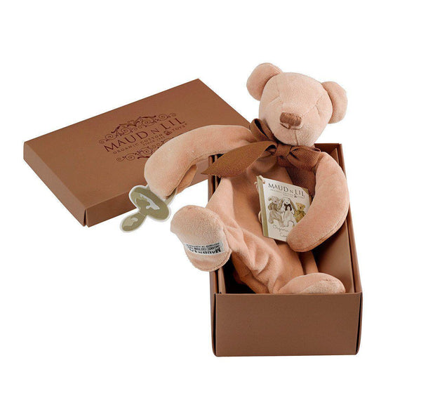Maud'n'lil - Organic Cotton - Comforter - Cubby the Teddy Bear Gift Box Maud N Lil Cubby in Gift Box
