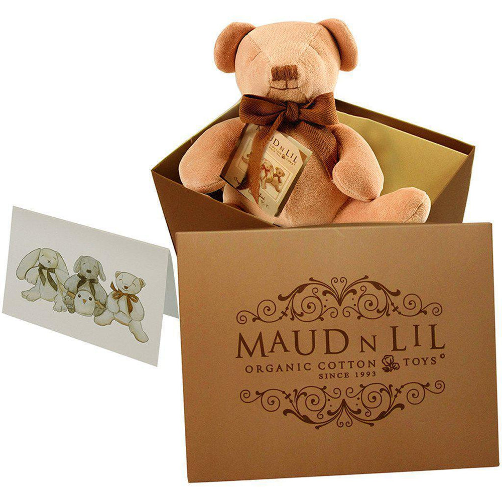 Maud'n'lil - Organic Cotton - Cubby the Bear - Honey Gift Box Maud N Lil