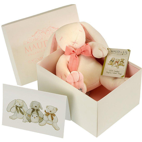 Maud'n'Lil - Organic Cotton - Rose the Pink Bunny Gift Box Maud N Lil