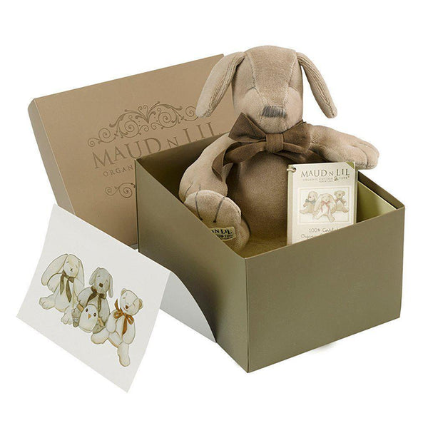 Maud'n'Lil - Organic Cotton - Soft Toy - Paws the Puppy Gift Box Maud N Lil