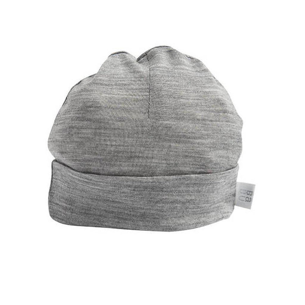 Merino - Superwash - Beanie Hat - Cream, Grey, Pink, Navy or Green Hat Babu Grey Newborn