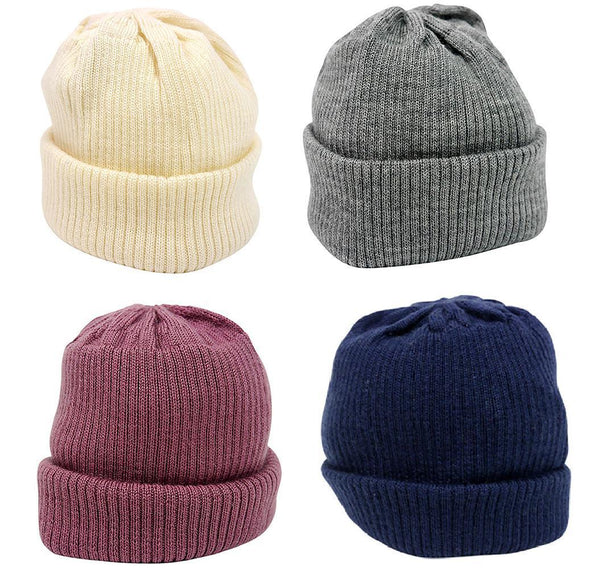 Merino Wool - Knitted Rib - Hat - Multiple Colours - Sizes Prem to 12 months Hat Babu