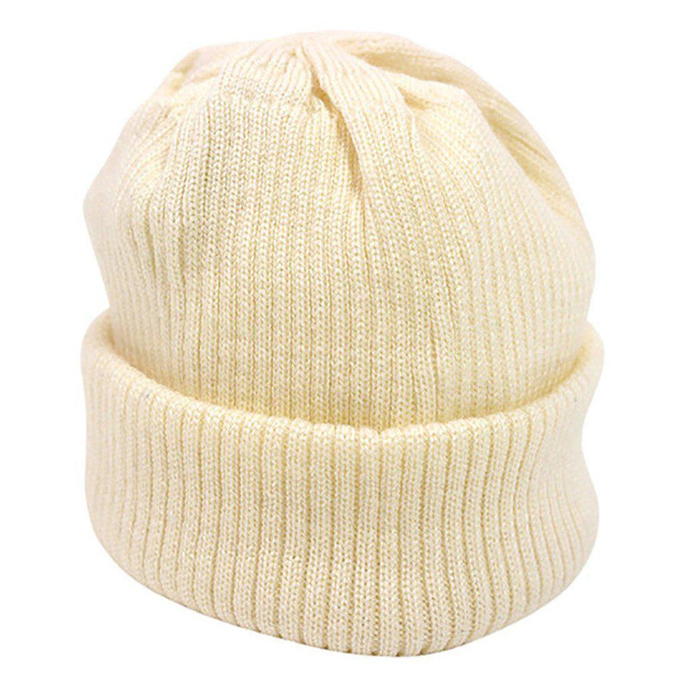 Merino Wool - Knitted Rib - Hat - Multiple Colours - Sizes Prem to 12 months Hat Babu Cream Prem (00000)