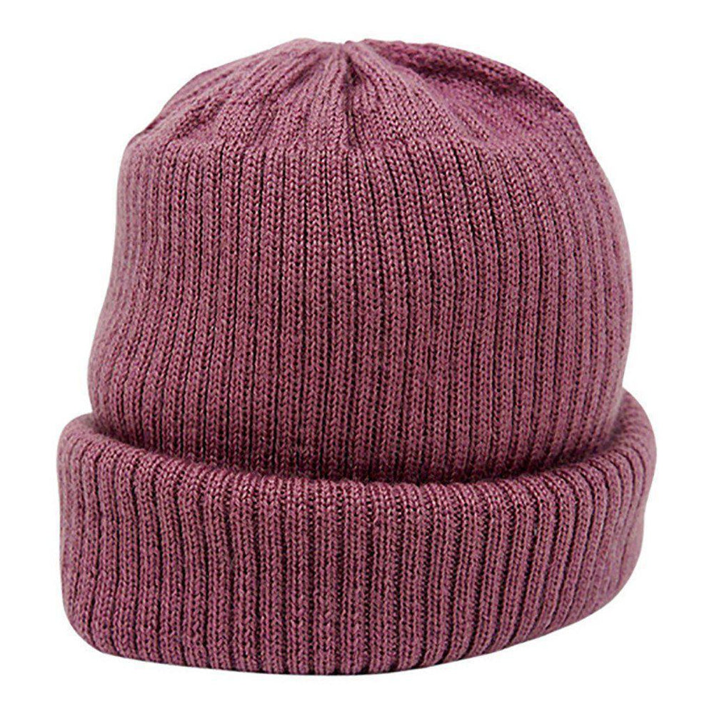 Merino Wool - Knitted Rib - Hat - Multiple Colours - Sizes Prem to 12 months Hat Babu Pink Prem (00000)