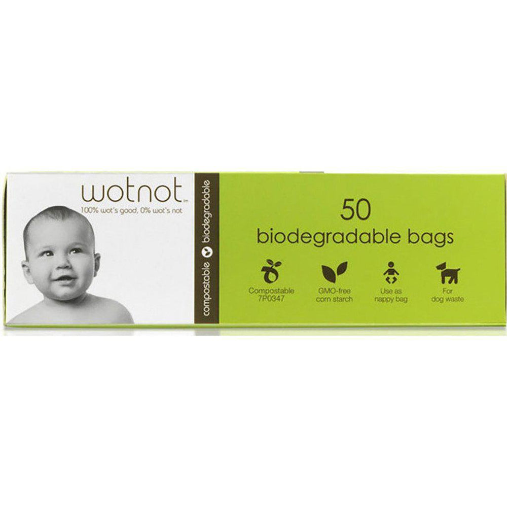 Nappy Bags | Biodegradable & Compostable | 50 Pack Nappy Bag Wotnot