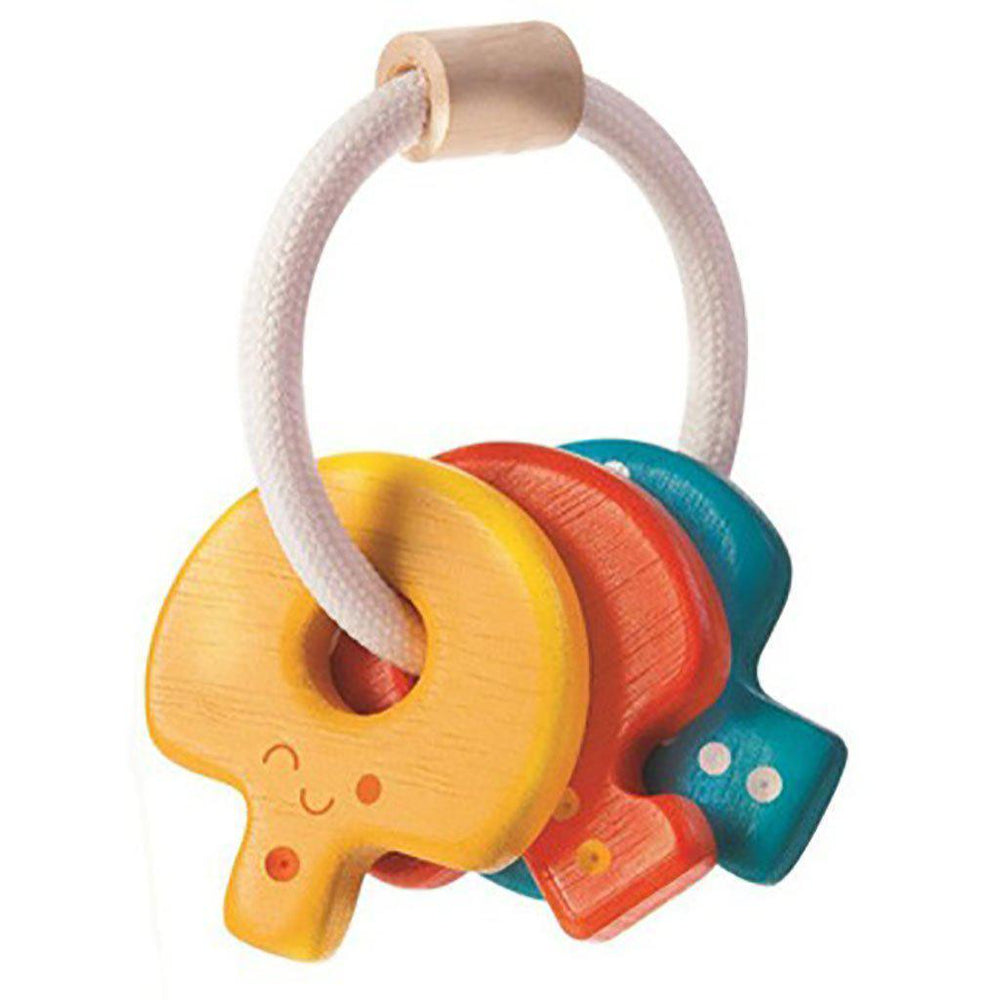 Plan Toys - Eco Wood - Key Rattle - Age 4 months + Toy Plan Toys