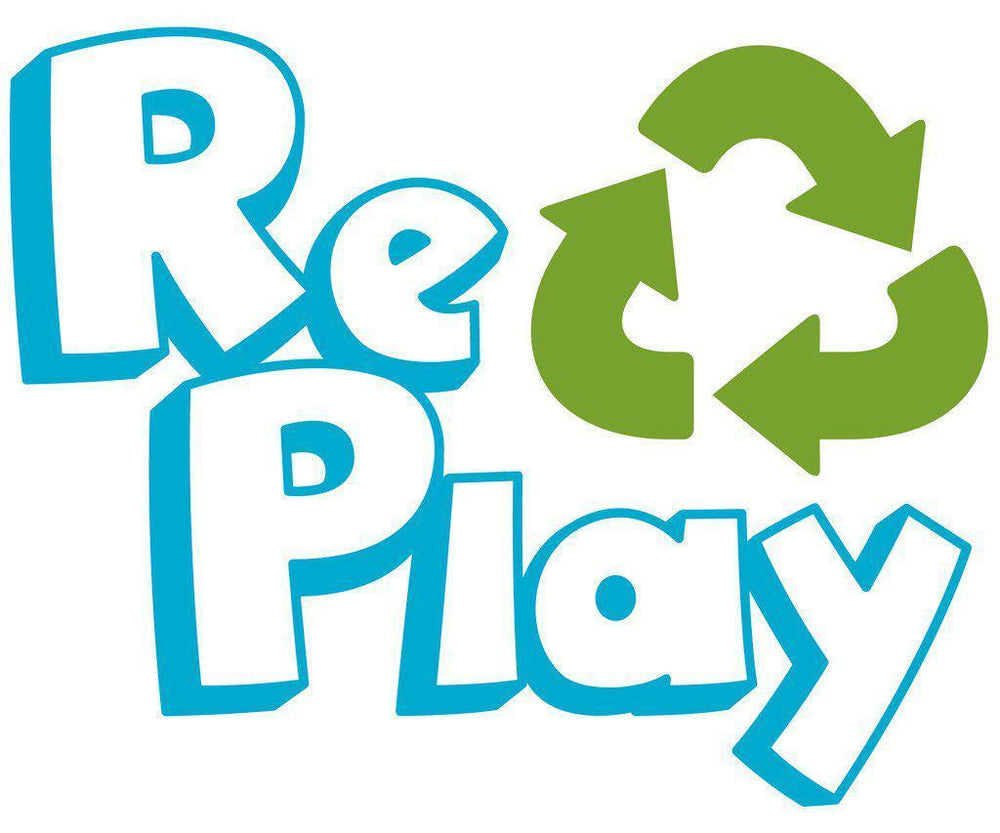 Re-play - Flat Plate - Aqua, Red or Green Eating and Drinking Re-play