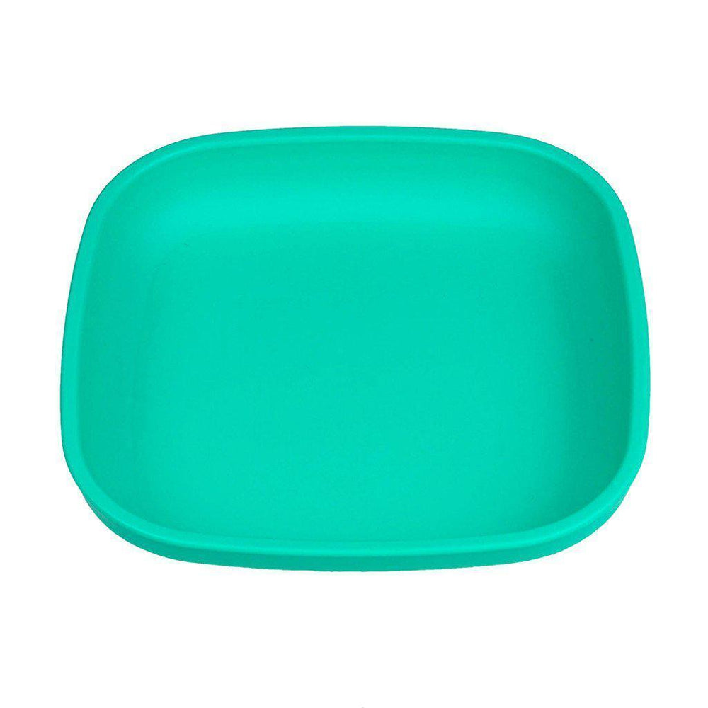 Re-play - Flat Plate - Aqua, Red or Green Eating and Drinking Re-play Aqua