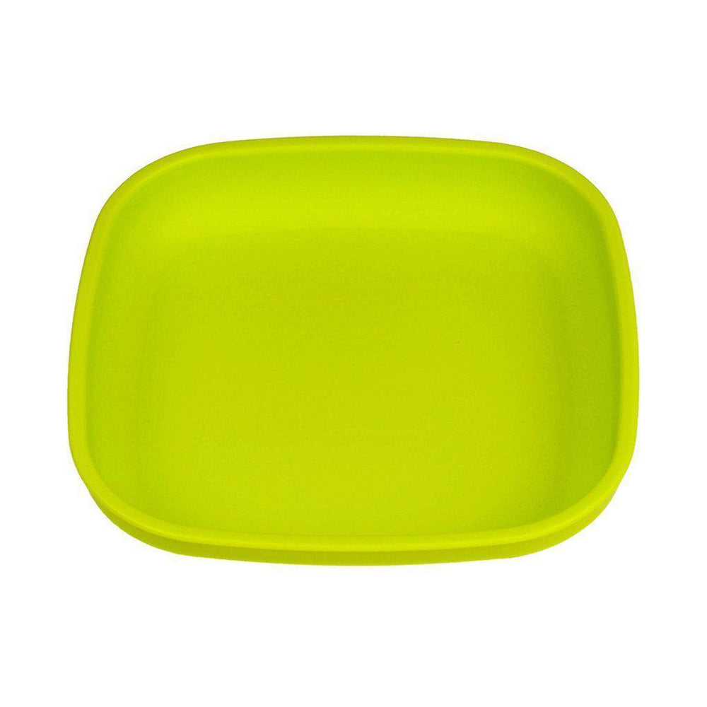 Re-play - Flat Plate - Aqua, Red or Green Eating and Drinking Re-play Green