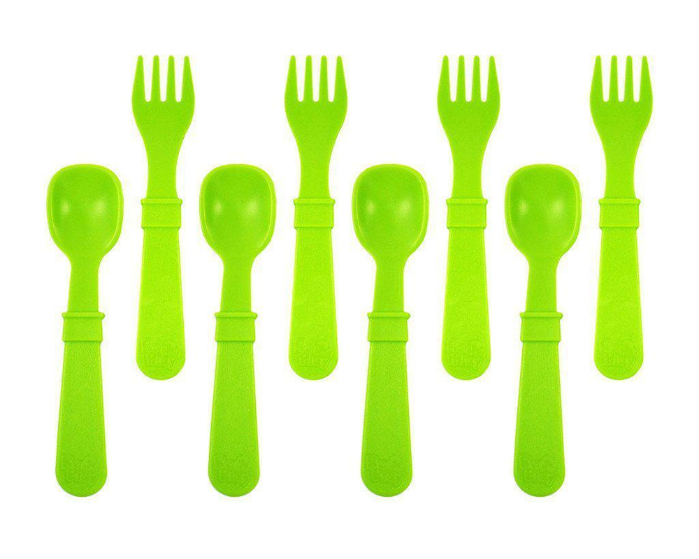 Re-Play - Utensils - Fork and Spoon - Many Colours to Chose From Eating and Drinking Re-play Green