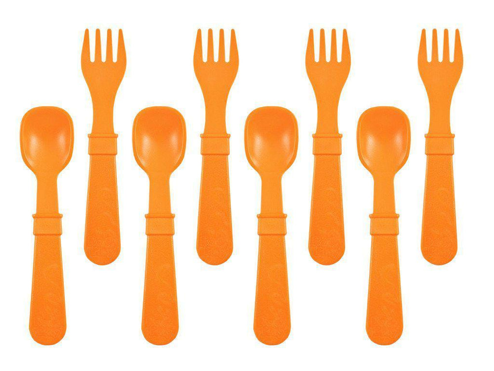 Re-Play - Utensils - Fork and Spoon - Many Colours to Chose From Eating and Drinking Re-play Orange