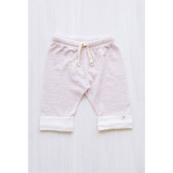 Roots & Wings | Organic Merino | Pants | Handmade in NZ | Rose Stripe | 0-3 months Pants Roots & Wings Merino
