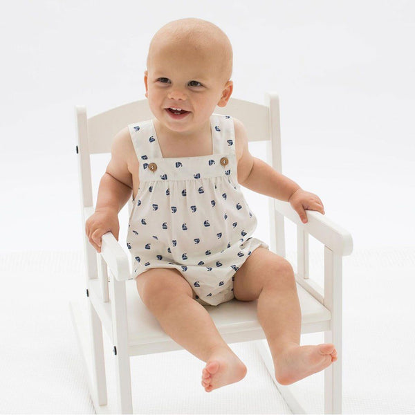 Sailboat Bubble Romper | Organic Cotton | Kite Clothing Romper Kite