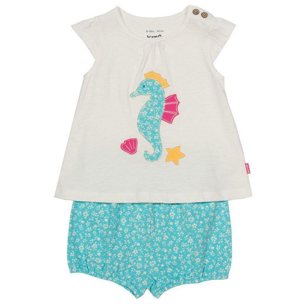 Seahorse Set | Tunic & Shorts | Organic Cotton | Kite Clothing Outfit Kite