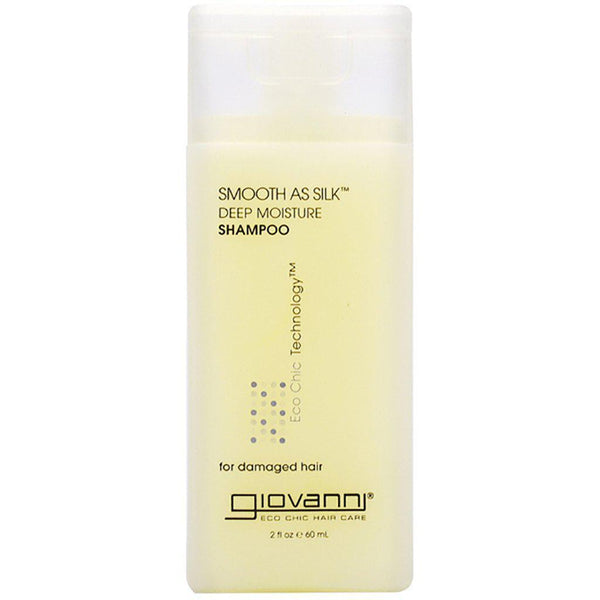 Shampoo | Smooth as Silk | For Damaged Hair | Organic Ingredients | 60mL | Travel Size Hair Care Giovanni