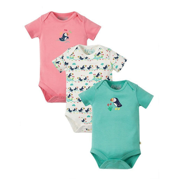 Super Special | Organic Cotton | 3 Pack | Bodysuits | Puffin Bodysuit Frugi