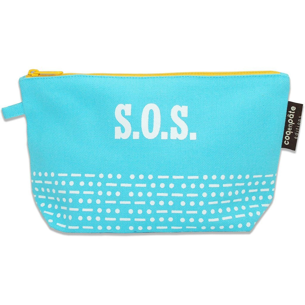 Coq en Pate SOS make up bag - blue
