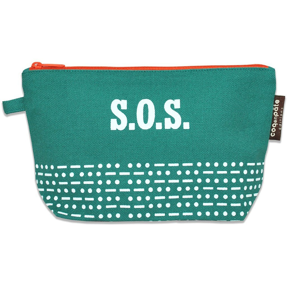Green Coq en Pate cosmetic bag