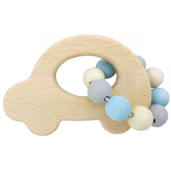 Wooden Baby Toy | Eco-friendly | Car Rattle | Natural Blue Toy Hess-Spielzeug