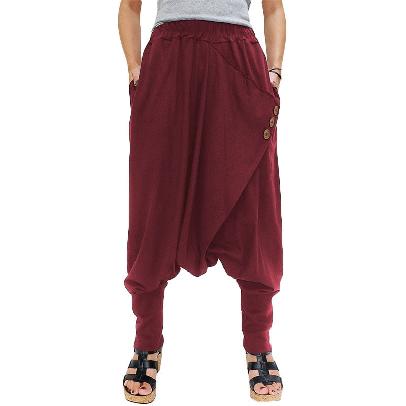 Catchy Pockets Harem Pants