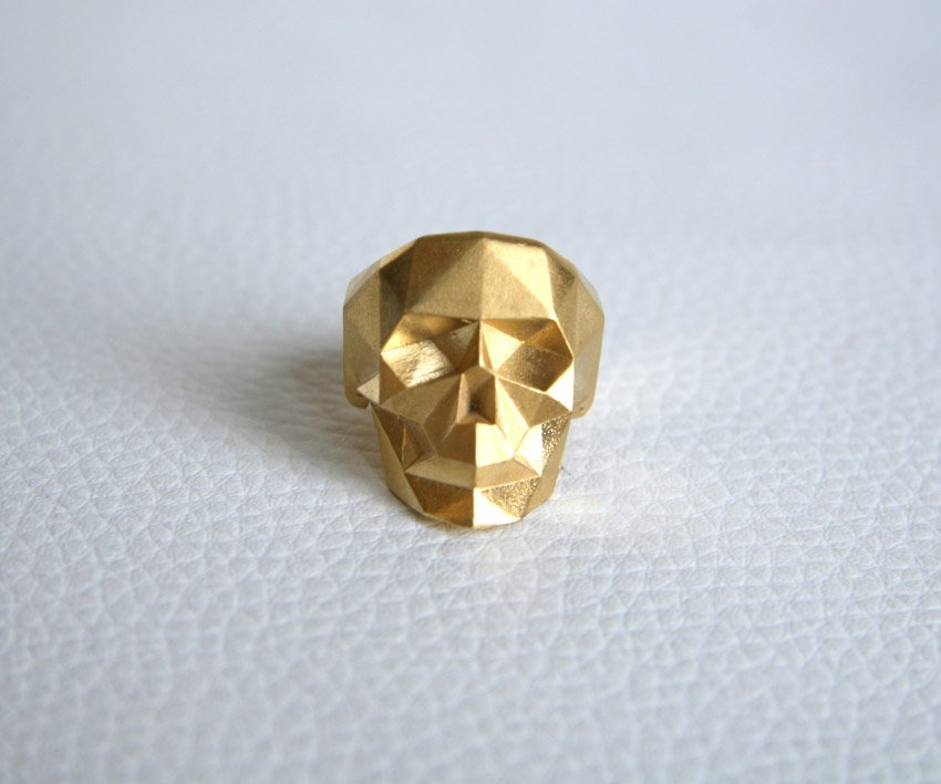 Golden skull ring (L, XL)